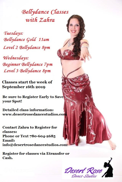 Desert Rose Dance Studios Edmonton Dance Classes, Bellydance